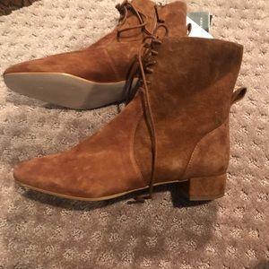 Zara Camel suede booties